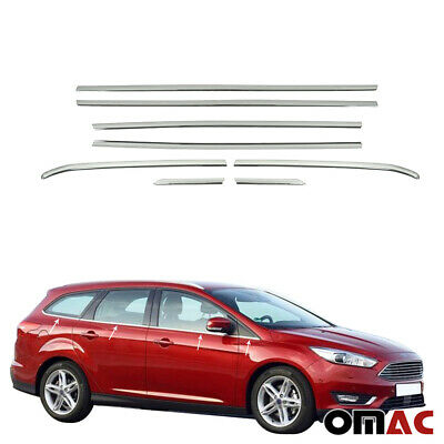 For Ford Focus III Estate Window Blinds Stainless Steel Chrome 8 Pieces ab 2011
