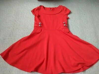 902 Next Red Skater Dress Size 6 Years