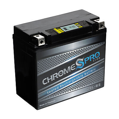 Chrome Pro YTX7L-BS High Performance Sealed iGel Motorcycle Battery Maintenance Free