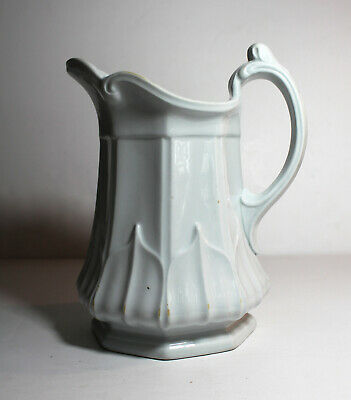 Antique 1854 WHITE IRONSTONE PITCHER T&R Boote Pottery Sydenham English England