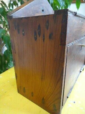 Lovely Wood Wooden Church Chapel Collection Box Boxe