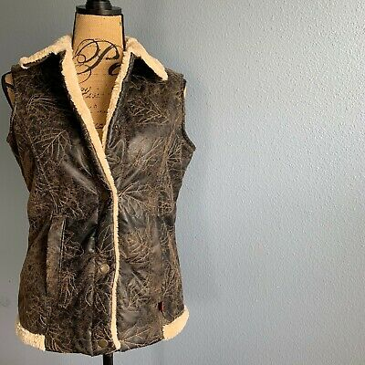 Woolrich Brown Saddle Sherpa Vest Size Small Smoke Free Home