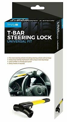 Simply SWL20 heavy Duty Yellow T-Bar Steering Wheel Heavy Duty Locking Mechanism