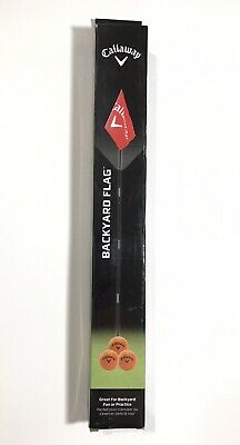 Callaway Golf Backyard Driving Range Red Flag W/ 3 Soft Orange Practice Balls