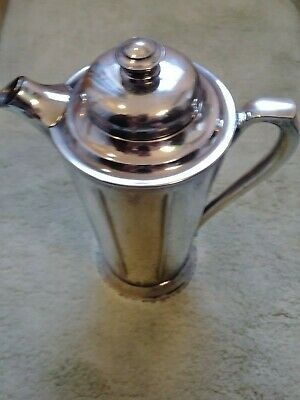 Rogers silver plated Paris pattern cocktail shaker monogrammed (R) pitcher 1927