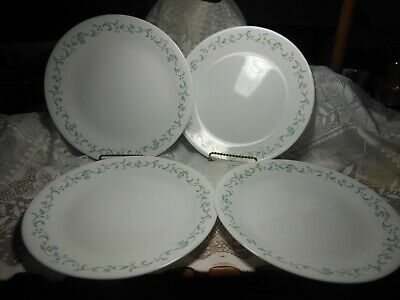 CORELLE DINNER PLATES COUNTRY COTTAGE BLUE HEARTS AND VINE  set 4