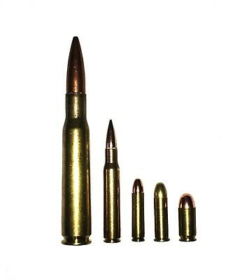 WWII US GI Military Collection Snap Caps WW2 38 45 ACP .30 Carbine 30-06 .50 BMG
