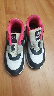 KIDS GIRLS NIKE Air Max 90 GS Shoes 307793 407 Size 6y