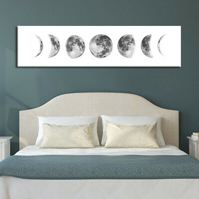 Moon Eclipse Abstract Canvas Wall Art Painting Home Hanging Picture Decor