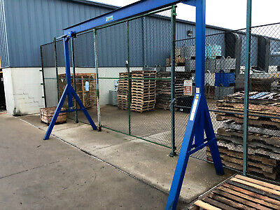 Slightly Used 2 ton hoist and frame structure.