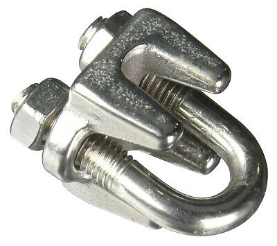 """Campbell T7633004 1/4"""" Stainless Steel Wire Rope Clip"""