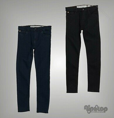 Boys Ripstop Classic Zip Fly Skinny Fit Denim Jeans Sizes Age from 5 to 14 Yrs