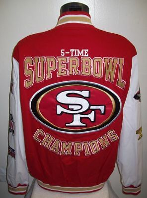 new products 81225 93e84 SAN FRANCISCO 49ERS 5 Time Super Bowl Cotton Twill Jacket ...