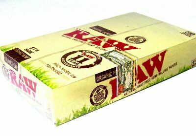 RAW Organic Hemp 1 1/4 Rolling Papers - Full Box of 24 🔥 🔥 buy10 get 1 free🔥