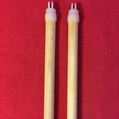 Bird Perches Wooden 12mm CUT TO ANY SIZE Twin Pack Budgie Finch Canary Cage