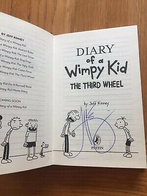 Diary Of A Wimpy Kid - The Third Wheel Book 7 - Jeff Kinney Signed & Unread