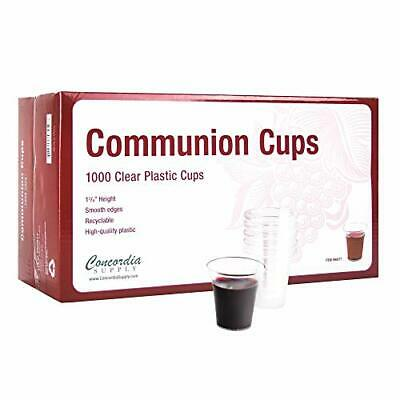 Concordia Supply Communion Cups - Premium Disposable - Box of (1000 Clear Cups)