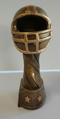 Bronze Resin Football Trophy Award Youth or Fantasy League 7.15 inches New