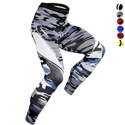 Men's Compression Long Legging Gym Athletic Base layer Running Sports Fitness