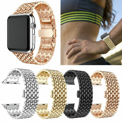 For iWatch Apple Watch Series 2 3 4 44/38mm Stainless Steel Band Strap Bracelet