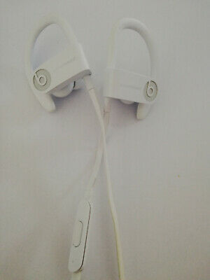 Beats By Dr. Dre Powerbeats 3 A1747 White Bluetooth Wireless In Ear Headphones
