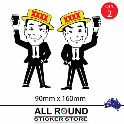 XXXX man, Mr Forex Beer Can   Sticker Suit Bar Camping Fishing Boat POPULAR