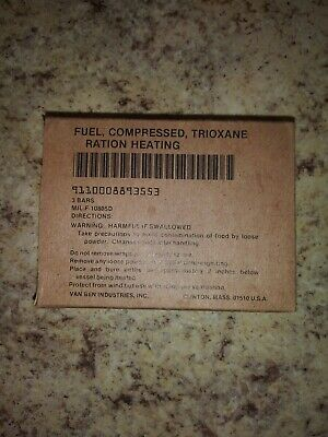 6 Bars / 2 boxes Trioxane Military Fuel Camping Fire Starter Tablet Surplus