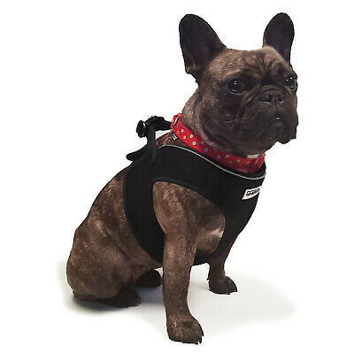 Ancol Step In Dog Harness in Black Breathable Nylon Mesh Fabric in 5 Sizes