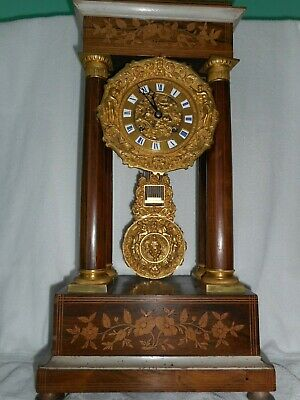 Antique French  Clock - Empire 4 coloumn portico Clock!!!