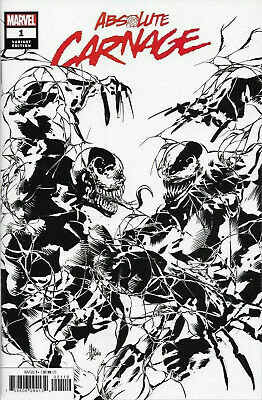 ABSOLUTE CARNAGE #1 Deodato Variant B&W Sketch Variant (Marvel 2019) Donny Cates