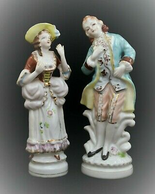 Vintage Occupied Japan Victorian Man And Woman Figurines
