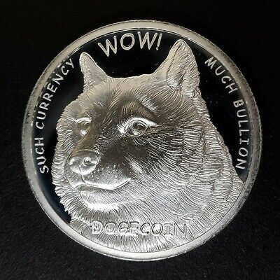 Dogecoin Collectible Medallion 1oz Silver 99.9% Limited Mintage Doge Rare Round