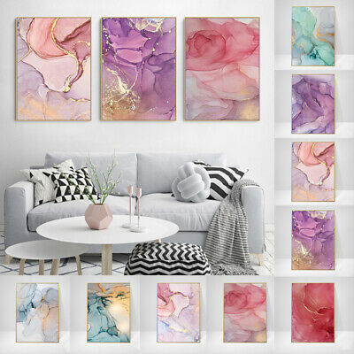 Nordic Marble Texture Canvas Poster Abstract Wall Art Print Home Room Decorative