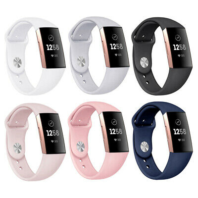 For Fitbit Charge 3 Replacement Silicone Strap Watch Band Diamond Bracelet Wrist