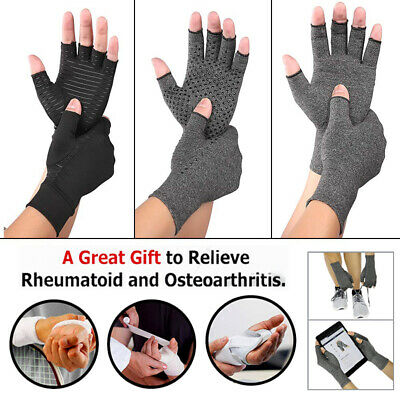 Copper Anti Arthritis Compression Gloves Hand Support Pain Relief Finger Protect