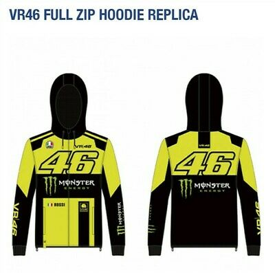 Official VR46 Valentino Rossi Monza Monster full zip Hoodie Fleece - UK DEALER