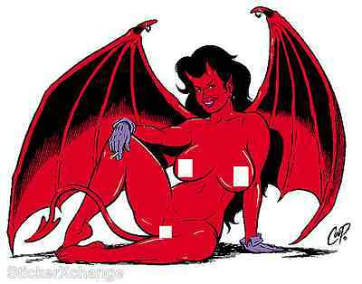 Winged Devil Girl STICKER Decal Poster Artist Coop CP21 LARGE SIZE