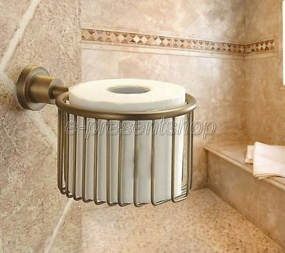 Antique Brass Wall Mounted Bathroom Toilet Tissue Paper Roll Holder Bba027