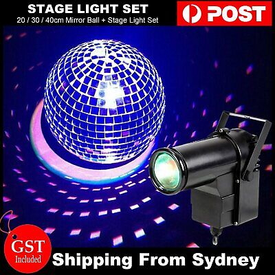 20 30 40cm Mirror Glass Disco Reflective Ball DJ Dance Party Club Stage Lighting