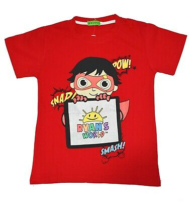 New Size 3-8 Kids Ryan T-Shirt Tees Tops Boys Review Toys Review World Gift