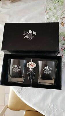 Jim Beam Glasses and Pourer Gift Set