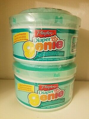 2 Playtex Diaper Genie Twistaway Refill Green Thick Thicker Old Older Model New
