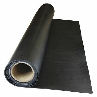 E. JAMES 4040-1/4-10 Rubber,Buna,1/4 In Th,36 Inx10 Ft