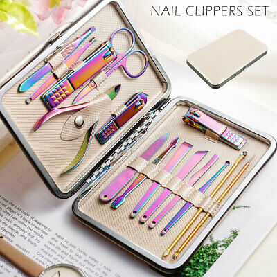 15X Manicure Pedicure Set Stainless Nail Clippers Kit Cuticle Grooming Beauty AU