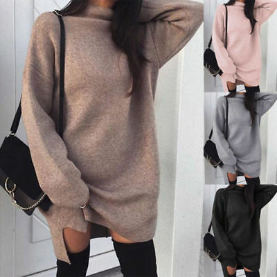 Women Oversized Baggy Mini  Shirt Dress Long Pullover Jumper Fashion Dress Top