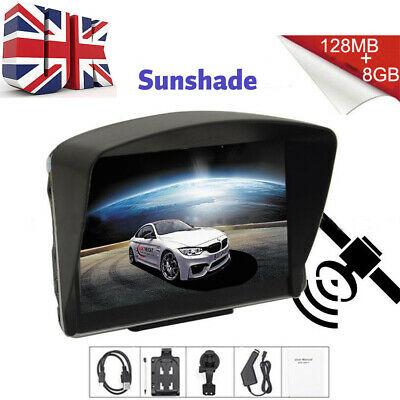 "5"" SAT NAV 8GB Car Truck HGV LGV GPS Navigation UK EU Lifetime POI Map Speedcam"