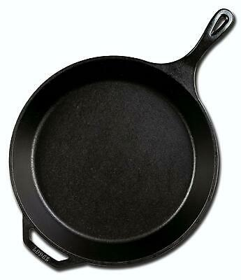 Lodge Cast Iron Skillet 15 Inch Pre-Seasoned Kitchen Cooking Handle Pan New