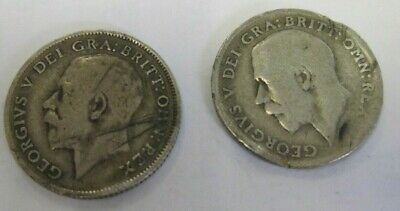 1911 / 1916 sixpences x 2  George V Used Condition Not Cleaned