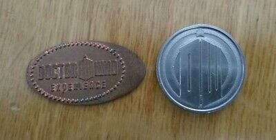 Dr Who Experience Cardiff Elongated Coin + Weeping Angel Coin - FREE P+P