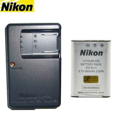 Nikon EN-EL11 Genuine Original Camera Battery + MH-64 Charger